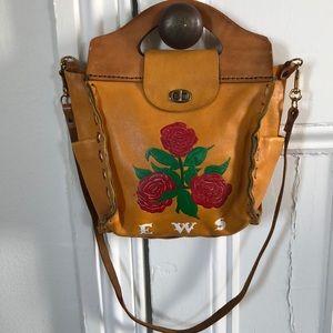 SOLD vintage handmade leather bag